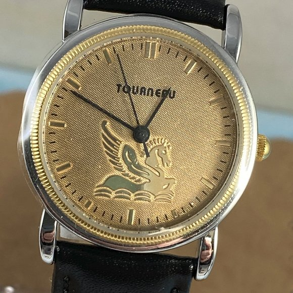 Special Tourneau Champagne Dial Pegasus Gold Watch
